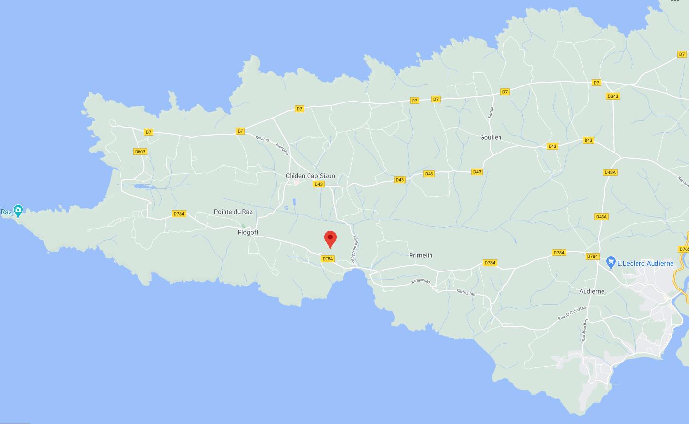 Karte vom Ferienhaus Ty Boz und Ty Kiwi