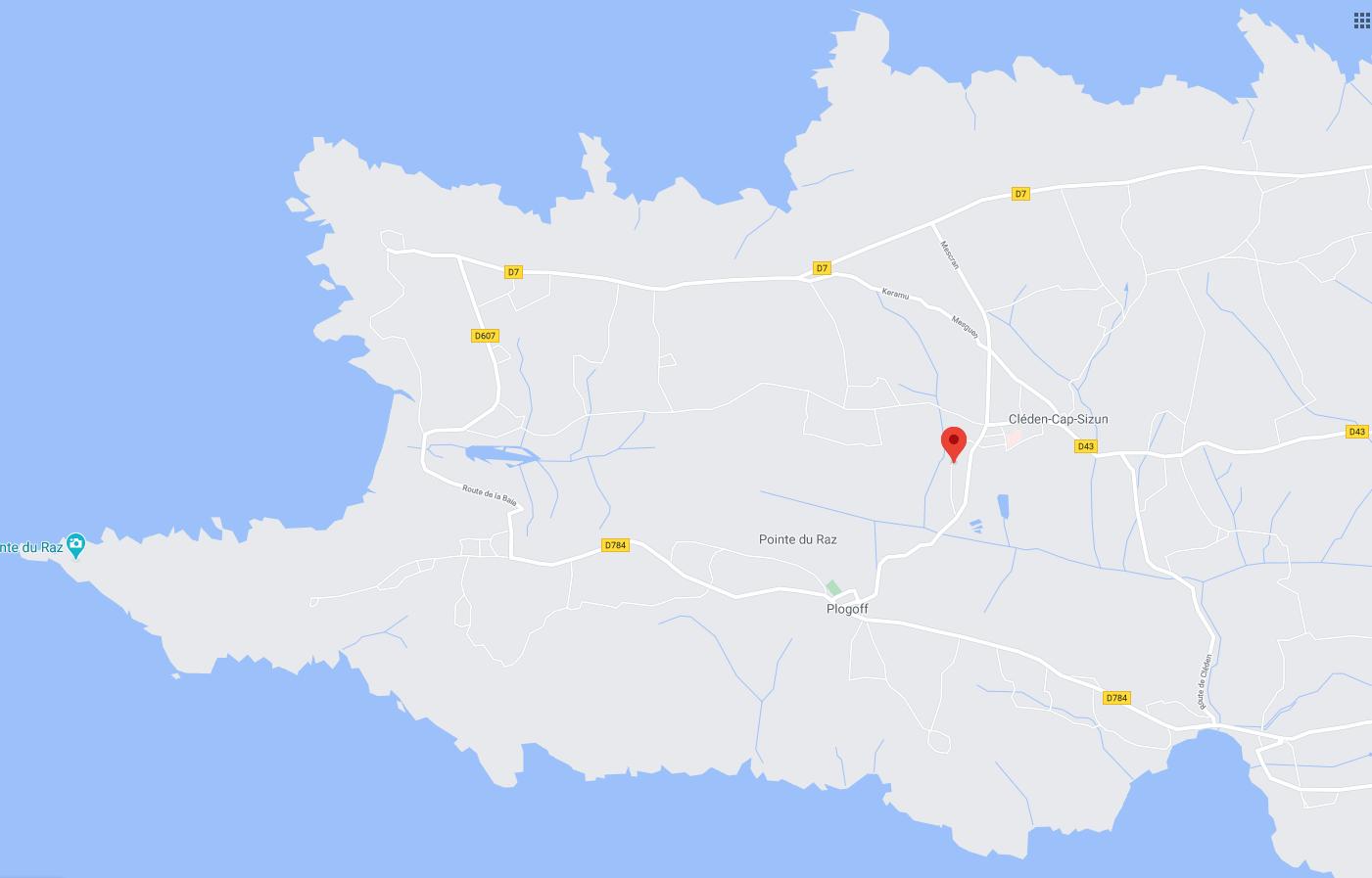 Karte vom Ferienhaus Ker Heol