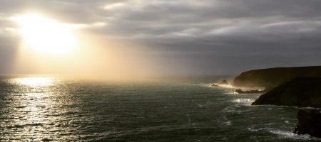 Sonnenuntergang an einer Küste